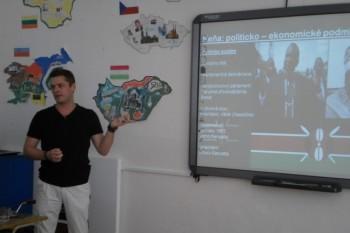 Zážitky z Kene vyrozprával študentom OA v Šuranoch Matúš Németh