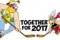 Maskoti MS Asterix a Obelix s heslom pre oustiderov:Nič nie je nemožné