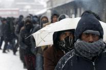 Zima a mráz v Srbsku