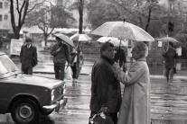 UNIKÁTNE FOTO: Apríl - čas rozkvitnutých dáždnikov v uliciach