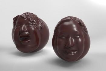 Valentínsky hit v Japonksu je čokoládová hlava s replikou tváre darcu