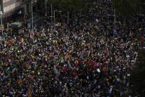 Masová demonštrácia v katalánskej metropole Barcel
