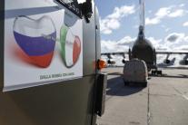 Ruské vojenské vozidlá s materiálnou a zdravotníck