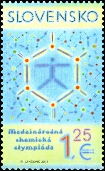 Medzinárodná chemická olympiáda má svoju vlastnú poštovú známku