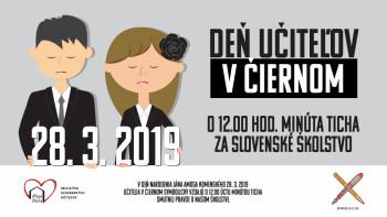 SKU: Slovenskí učitelia oslávia Deň učiteľov v čiernom