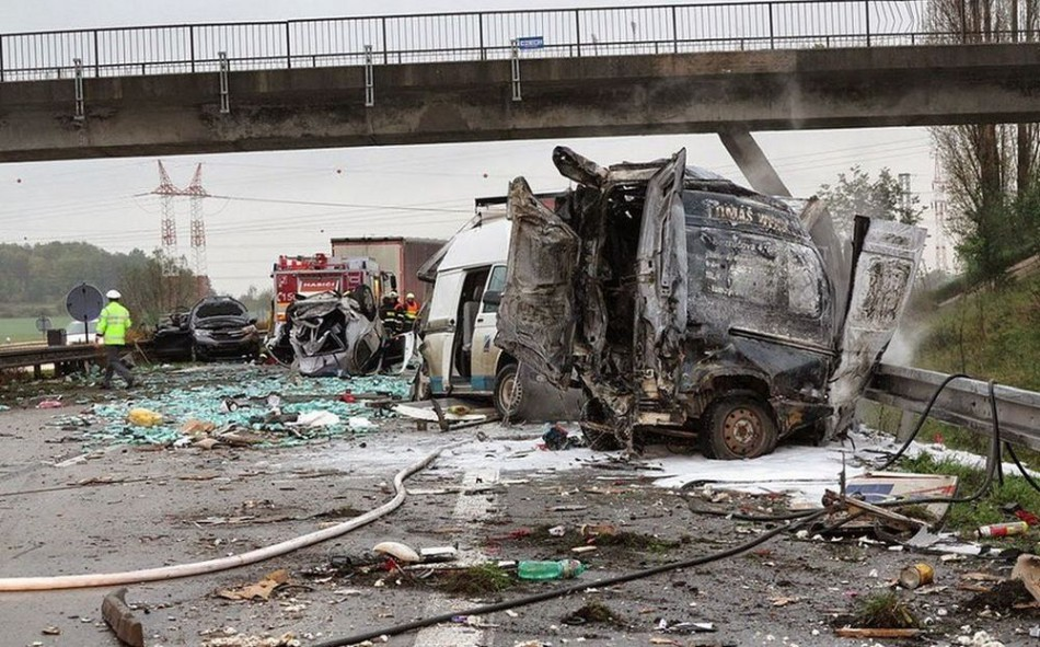 Hromadná nehoda pri Brne zablokovala diaľnicu na Bratislavu