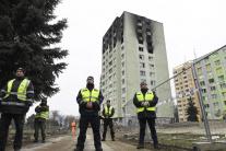 Bytovka po výbuchu plynu v Prešove