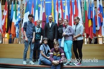 Nadaní žiaci navštívili Európsky parlament