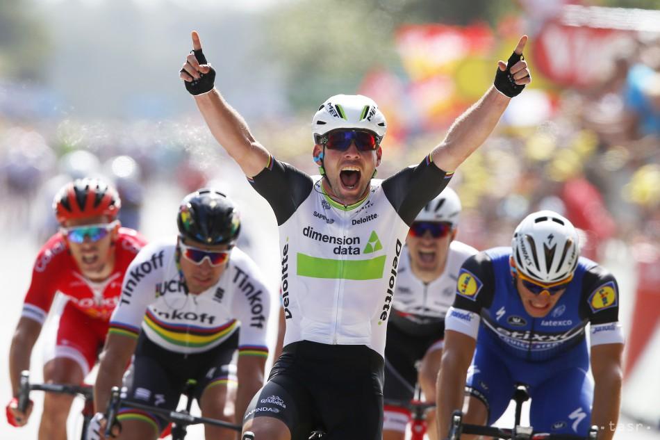 f32585a2a1feb FOTO: Cavendish víťazom prvej etapy Tour de France, Sagan tretí