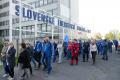Zamestnanci SES Tlmače protestovali proti plánovanému prepúšťaniu