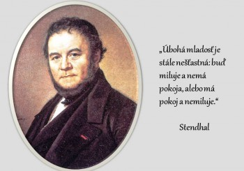 Pred 235 rokmi sa narodil Stendhal - autor románu Červený a čierny