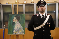 Taliansko Piacenza umenie Klimt maľba nález galéri
