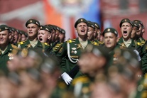 Rusko, vojaci, prehliadka