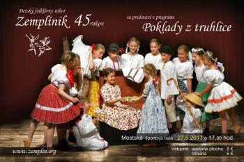 Detský folklórny súbor Zemplínik oslavuje 45 rokov od svojho vzniku