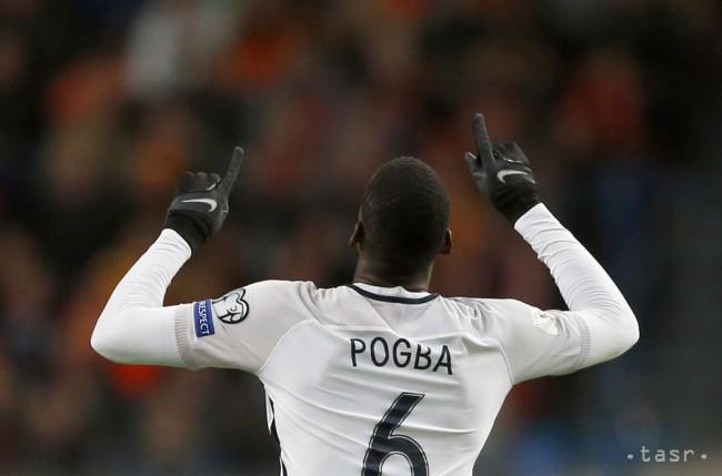 f3880644a1b70 Francúzsky futbalista Paul Pogba sa teší po strelení gólu v kvalifikačnom  zápase základnej A-skupiny Holandsko - Francúzsko v Amsterdame 10. októbra  2016.