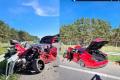 VODIČI POZOR: Diaľnica D2 za Malackami je pre nehodu uzavretá