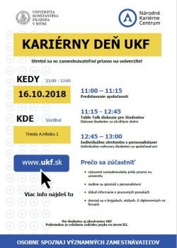 UKF organizuje pre svojich študentov pravidelný Kariérny deň