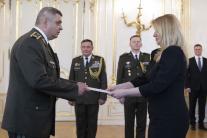 Prezidentka Čaputová vymenovala nových generálov