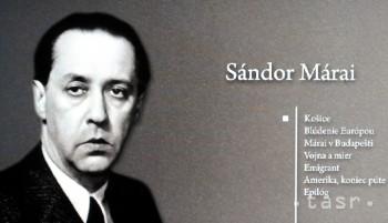 Od úmrtia spisovateľa Sándora Máraia uplynie 25 rokov
