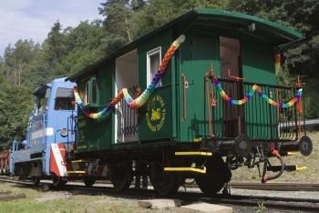 Detská železnica oslávi netradičné vagón-meniny