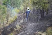 Požiar lesa pri obci Gánovce je pod kontrolou