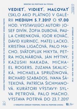 V Bratislave je výstava experimentálnych diel - výšivka na skle