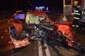 Octavia na diaľnici D6 v ČR zmietla posádku havarovaného citroënu