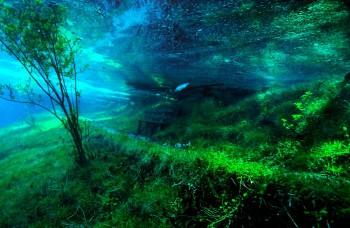 Jedinečné miesto, kde stojíte na chodníkoch, ale pod hladinou vody