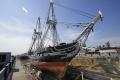 Najstaršia vojnová loď Constitution vypláva po opravách z doku
