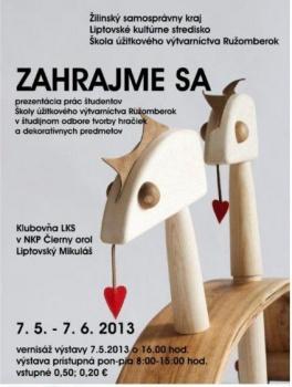 Pozvánka na výstavu ZAHRAJME SA