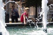 Schladzovanie sa Bratislavčanov pred horúčavami
