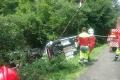 V Kľačne havaroval kamión, ktorý prevážal automobily