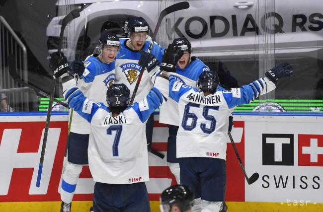 1441b8fe47e1b Na snímke gólová radosť Fínov vo finálovom zápase Kanada - Fínsko na 83.  majstrovstvách sveta v ľadovom hokeji v Bratislave 26. mája 2019.