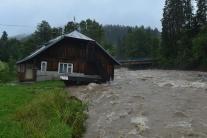 Povodne vo Vysokých Tatrách