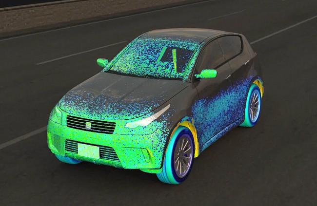 Na počítači sa dá simulovať už aj znečistenie auta počas jazdy