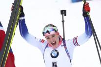 slovenská biatlonistka Paulína Fialková druhé mies