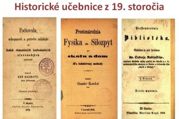 SNK zdigitalizovala historické učebnice z 19. storočia