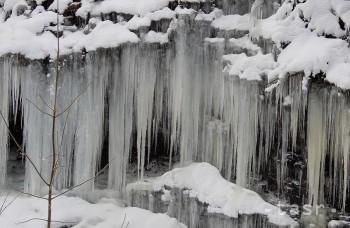 PRÍRODNÁ ATRAKCIA: Ľadopád v Demänovskej Doline nájdete hneď pri ceste