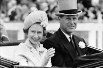 Britská kráľovná Alžbeta II. a jej manžel britský
