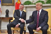 Slovenský premiér P. Pellegrini na stretnutí s ame