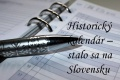 Slovensko: Historický kalendár na 20. marca
