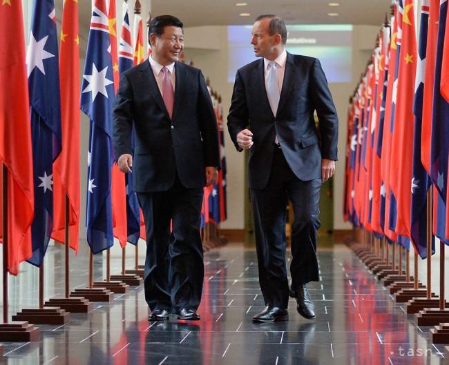 Čínsky prezident si ťin-pching (vľavo) a austrálsky premiér tony