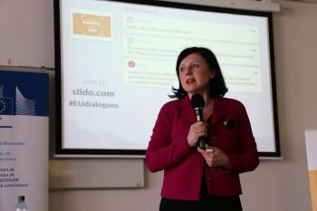 Eurokomisárka Věra Jourová navštívila EU v Bratislave