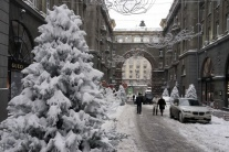 Zasnežený Kyjev, Ukrajina