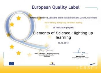 ZŠ I.B Zocha v Revúcej získala európske ocenenie