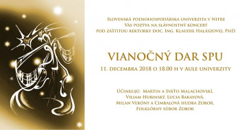 Podujatie Vianočný dar SPU ponúkne koncert i remeselné mestečko