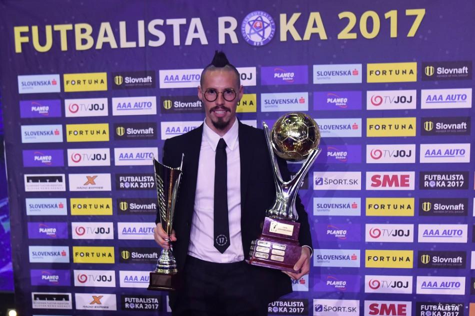 2d63ea6a1d8d5 FUTBALISTA ROKA 2017: Titul najlepšieho futbalistu obhájil Hamšík
