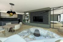 Obývacia izba a kuchyňa