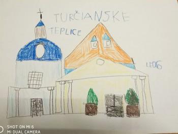Škôlkar Leonardo predstavil kresbou Kúpele Turčianske Teplice