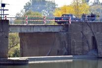 Strážske, Laborec, poškodený most